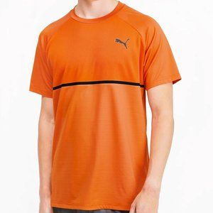 NWT PUMA MENS ORANGE SHORT SLEEVE T-SHIRT SIZE M L
